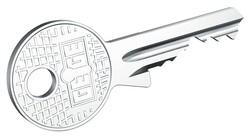 AP1000 Standart - dormakaba gege AP1000 işlenmiş metal başlıklı anahtar
