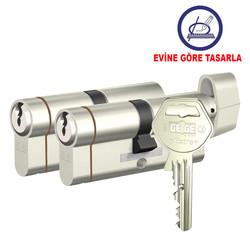 Tüm ölçüler - dormakaba Gege pExtra Plus her ölçüde İkili Pas Sistem Barel Kapı Göbeği (Evine göre tasarla)