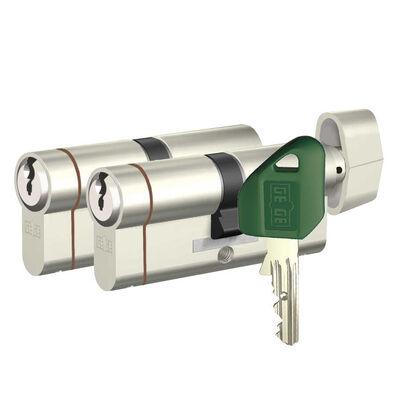dormakaba Gege pExtra Plus Biri Mandallı İkiz Ortak Anahtarlı Barel Çelik Kapı Kilit Göbeği