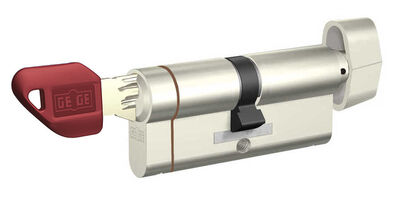 dormakaba Gege pExtra 75-76 mm (30 - 45) Anahtarı Kopyalanamayan PLUS ( Çelik Takviyeli+Tuzaklı ) Mandallı Barel Kapı Göbeği