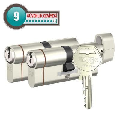 dormakaba Gege pExtra 75-76 mm (30 - 45) İkili Pas Sistem Anahtarı Kopyalanamayan PLUS ( Çelik Takviyeli+Tuzaklı ) Barel Kapı Göbeği