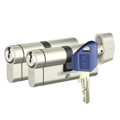 dormakaba Gege pExtra 83-85 mm (35 - 50) İkili Pas Sistem Anahtarı Kopyalanamayan PLUS ( Çelik Takviyeli+Tuzaklı ) Barel Kapı Göbeği