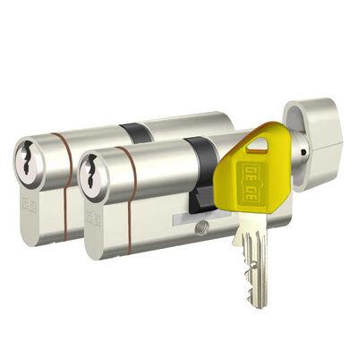dormakaba Gege pExtra 90 mm (35 - 55) İkili Pas Sistem Anahtarı Kopyalanamayan PLUS ( Çelik Takviyeli+Tuzaklı ) Barel Kapı Göbeği