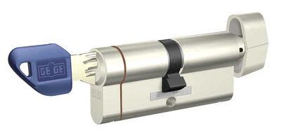 dormakaba Gege pExtra 90 mm (40 - 50) Anahtarı Kopyalanamayan PLUS ( Çelik Takviyeli+Tuzaklı ) Mandallı Barel Kapı Göbeği