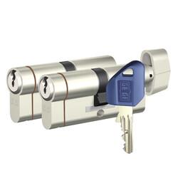 90 mm (40-50) - dormakaba Gege pExtra 90 mm (40 - 50) İkili Pas Sistem Anahtarı Kopyalanamayan PLUS ( Çelik Takviyeli+Tuzaklı ) Barel Kapı Göbeği