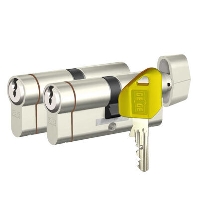 dormakaba Gege pExtra 90 mm (40 - 50) İkili Pas Sistem Anahtarı Kopyalanamayan PLUS ( Çelik Takviyeli+Tuzaklı ) Barel Kapı Göbeği