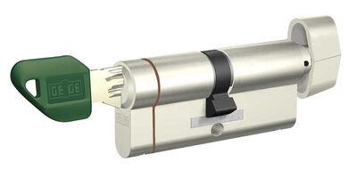 dormakaba Gege pExtra 90 mm (45 - 45) Anahtarı Kopyalanamayan PLUS ( Çelik Takviyeli+Tuzaklı ) Mandallı Barel Kapı Göbeği