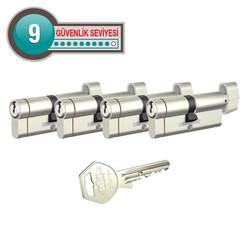dormakaba Gege pExtra Plus her ölçüde Dörtlü Pas Sistem Barel Çelik Kapı Kilit Göbeği - Thumbnail