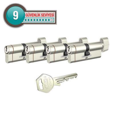 dormakaba Gege pExtra Plus her ölçüde Dörtlü Pas Sistem Barel Çelik Kapı Kilit Göbeği