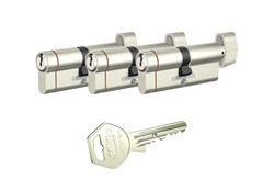 Tüm ölçüler - dormakaba Gege pExtra Plus her ölçüde Üçlü Pas Sistem Barel Çelik Kapı Kilit Göbeği