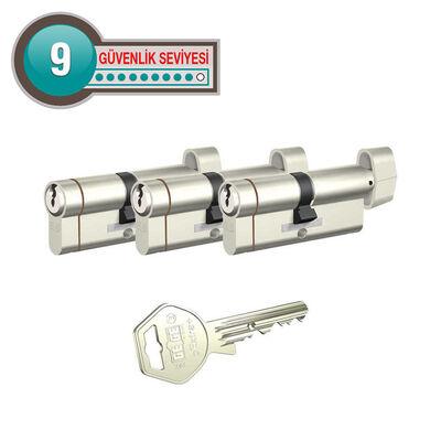 dormakaba Gege pExtra Plus her ölçüde Üçlü Pas Sistem Barel Çelik Kapı Kilit Göbeği