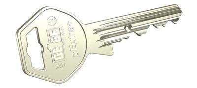dormakaba gege pextra işlenmiş metal başlıklı anahtar