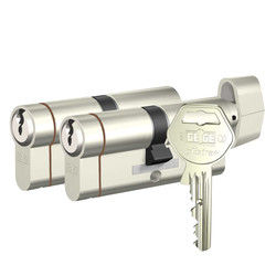 Gege pExtra Plus - dormakaba Gege pExtra Plus Biri Mandallı İkili Pas Sistem Barel Çelik Kapı Kilit Göbeği (3+1 Anahtarlı)