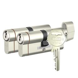Gege pExtra Plus - dormakaba Gege pExtra Plus Biri Mandallı İkili Pas Sistem Barel Çelik Kapı Kilit Göbeği (3+3 Anahtarlı)