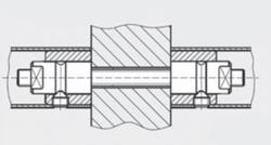 dormakaba - dormakaba GZ 214 ahşap metal kapılar için çift taraflı bağlantı elemanı