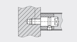 dormakaba - dormakaba GZ 234 çerçeveli kapılar için (20 mm vida derinliği) tek taraflı bağlantı elemanı