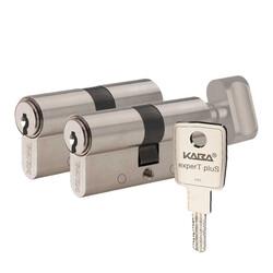 dormakaba Kaba experT Plus 68 - 71 mm İkiz Ortak Anahtarlı Biri Mandallı Çelik Kapı Kilit Göbeği - Thumbnail