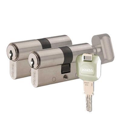 dormakaba Kaba experT Plus 68 - 71 mm İkiz Ortak Anahtarlı Biri Mandallı Çelik Kapı Kilit Göbeği