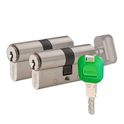 dormakaba Kaba experT+ 90 mm (35-55) İkili Pas Sistem Biri Mandallı Çelik Kapı Kilit Göbeği - Thumbnail