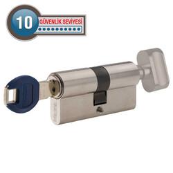 dormakaba Kaba experT+ 90 mm (40-50) Anahtarı Kopyalanamayan Çelik Takviyeli Mandallı Barel Kapı Göbeği - Thumbnail