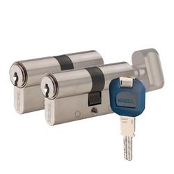 Kaba ExperT Plus - dormakaba Kaba experT+ 90 mm (40-50) İkili Pas Sistem Biri Mandallı Çelik Kapı Kilit Göbeği