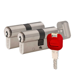 dormakaba Kaba experT+ 90 mm (45-45) İkili Pas Sistem Biri Mandallı Çelik Kapı Kilit Göbeği - Thumbnail