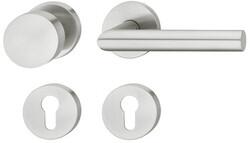 dormakaba - dormakaba Pure 8906 / 6501 / 3020 / 6612 yuvarlak rozetli kapı kolu tek tarafı sabit topuzlu